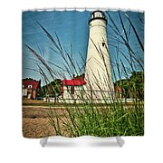 Fort Gratiot Lighthouse Shower Curtain by Meta Gatschenberger
