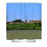 Fort Ticonderoga, From Lake Champlain. Shower Curtain