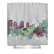 Fort Worth Skyline Artistic Pastel Shower Curtain