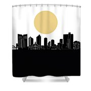 Fort Worth Skyline Minimalism Shower Curtain