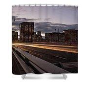 Founders Bridge Hartford Ct Shower Curtain by Kyle Lee