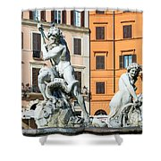Fountain Of Neptune Shower Curtain