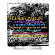Fountain With Quote From Dreams Of The Immortal City Savannah Shower Curtain