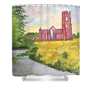 Fountains Abbey In Yorkshire Through Japanese Eyes Shower Curtain