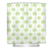 Four Leaf Clover Lucky Charm Pattern Shower Curtain