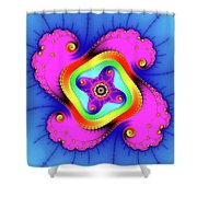 Fractal Art With Bold Colors Square Shower Curtain