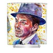 Frank Sinatra Singing Shower Curtain