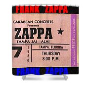 Frank Zappa 1980 Concert Ticket Shower Curtain