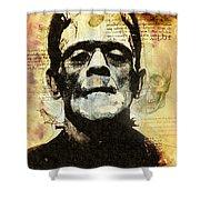 Frankenstein's Notebooks Shower Curtain