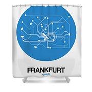 Frankfurt Blue Subway Map Shower Curtain