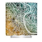 Frankfurt Germany City Map Shower Curtain
