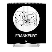 Frankfurt White Subway Map Shower Curtain