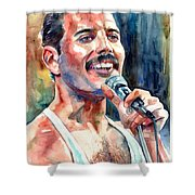 Freddie Mercury Live Aid Shower Curtain