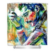 Freddie Mercury With Cigarette Shower Curtain
