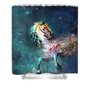 Free Of The Carousel Shower Curtain