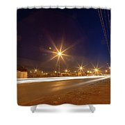 Freedom Square Long Exposure Shower Curtain