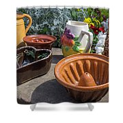 French Pottery Shower Curtain
