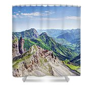 French Village In The Pyrenees Shower Curtain