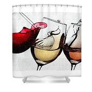 French Wines Shower Curtain