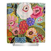 Fresh Flowers In Vase II    Shower Curtain