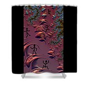 Frolicking In Fractal Land Shower Curtain by Shelli Fitzpatrick
