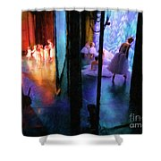 Front Stage, Back Stage Shower Curtain