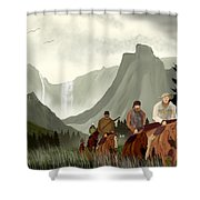 Frontier Trail Shower Curtain