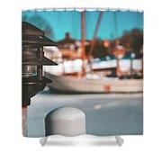Frozen Seaport Shower Curtain
