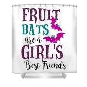 Fruit Bat Conservation Halloween Flying Fox Women Light Shower Curtain