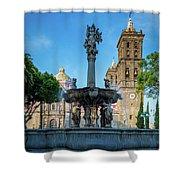 Fuente De Puebla Shower Curtain