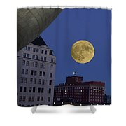 Full Moon At The Plaza Shower Curtain