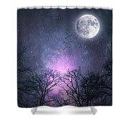 Full Moon Night Magic Shower Curtain