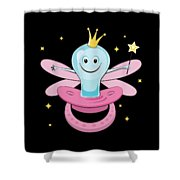 Fun Pacifier Fairy Tshirt For Girls To Get Rid Of Pacifiers Shower Curtain