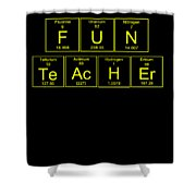 Fun Teacher Teachers Assistant Design Yellow Shower Curtain