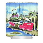 Fundy Tide Hall's Harbour Shower Curtain