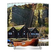 Funicular Railway East Cliff Hastings Shower Curtain