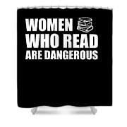 Funny Book Lover Design Who Likes Books Shower Curtain