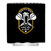 Funny Dart Player Darts And Beer Lovers Shower Curtain