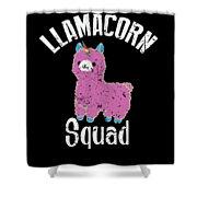 Funny Llamacorn Squad Unicorn Alpaca Lama Shower Curtain