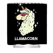 Funny Llamacorn Unicorn Alpaca Lama Shower Curtain