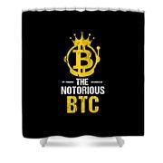 Funny The Notorious Btc Bitcoin Crypto Shower Curtain