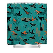 Funny Witch Hats Art Shower Curtain