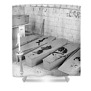 Funural Coffin Group Shower Curtain