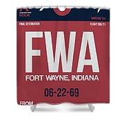 Fwa Fort Wayne Luggage Tag II Shower Curtain