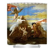 Galatea And Polyphemus  Shower Curtain