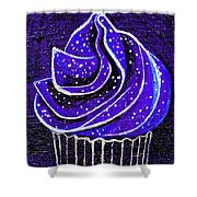 Galactic Universe Cupcake Shower Curtain