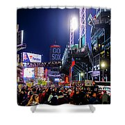 Game Night On Lansdowne Street 2018 World Series Red Sox Boston Ma Shower Curtain