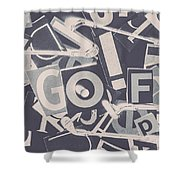 Game Of Golf Shower Curtain