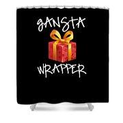 Gangsta Wrapper Funny Christmas Xmas Gift  Shower Curtain