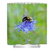 Floating On Blue  Shower Curtain
